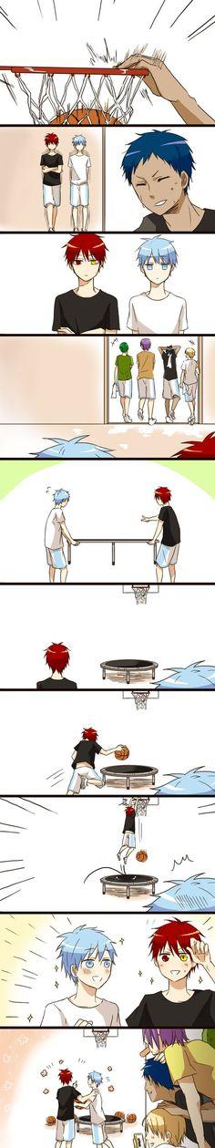 Kuroko no Basuke or Kuroko's Basket: (Kiseki no Sedai) The Generation of Miracles Anime Boys, Manga Anime, Anime Meme, Kuroko No Basket, Anime Basket, Haikyuu, I Love Anime, All Anime, Aomine Kuroko