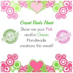 Great Finds Hunt Pink=Green