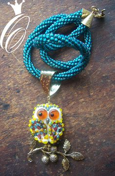 Lampwork Owl Pendant:  Someday I will learn how to make these...