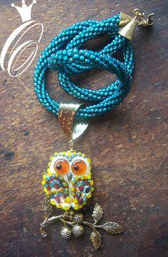 lampwork owl!