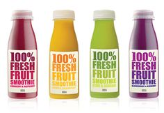 Marks & Spencer Fresh Fruit Smoothie Packaging #Yummy