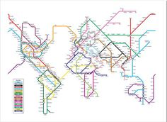 World Map Metro Style