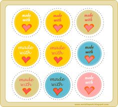 free printable 'made with love' tags – circle gift tags – 'Made with Love' Etiketten-Kärtchen – kostenlos ausdruckbar – freebie | MeinLilaPark – digital freebies