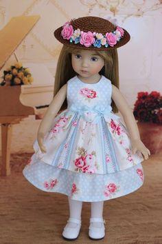 "OOAK Dress & Hat Ensemble 13"" Little Darling Doll Betsy McCall Dolls"