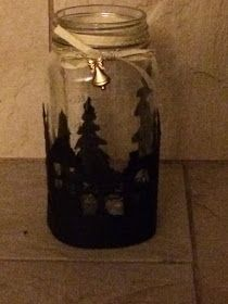 SU, Stampin up, Holidays, Christmas, Luminaire, tea light, lantern, silhouette, dies, candle Starbucks Bottles, Winter Cards, Stampin Up, Mason Jars, Christmas Crafts, Creative, Projects, Lantern, Candle