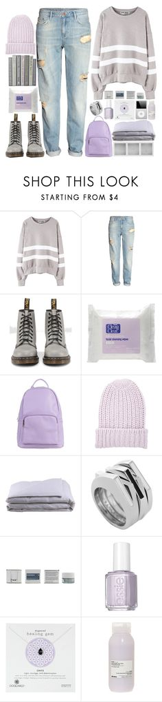 """""""hannah"""" by dai-co ❤ liked on Polyvore featuring H&M, Dr. Martens, SPURR, BCBGeneration, Holga, Frette, Vince Camuto, Korres, Essie and Dogeared"""
