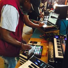 A great workshop yesterday at the Guga Sthebe centre in Langa. A great workshop introduction to Ableton Live followed by a great talk about music trends by the guys at We Love Jam. #abletonlive #ableton #abletonpush #music #dance #contemporary #sounds #korg #novationlaunchpad #novation #novationlaunchkey #synth #synthesizer #langa #welovejam #redrevengestudios #mininova