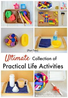 Ultimate collection of Practical Life activities Part 2 for Montessori Preschool Life Skills, Life Skills Activities, Life Skills Classroom, Teaching Life Skills, Toddler Learning Activities, Infant Activities, Preschool Activities, Teaching Reading, Life Skills Kids