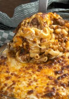 Simple Macaroni and Beef with Cheese. Comfort food!