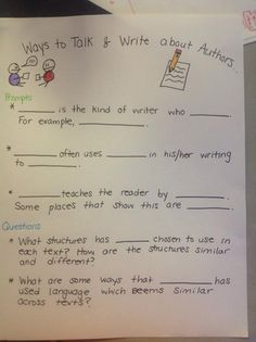 Prompts and questions for discussing nonfiction texts