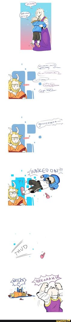 I think this would have been funnier if Asgore was about to attack Frisk, and Toriel threw sans  instead of a fire spell.