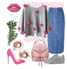 """Inverno pink"" by tatiele-413 ❤ liked on Polyvore featuring Glamorous, Polaris, Christian Louboutin, NIKE, Lime Crime, Nadri and Martha Stewart"