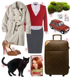 Living In: Leap Year - Tan trench coat, patterned blouse, and those shoes! Classic Outfits, Cute Outfits, Movie Outfits, Disney Inspired Fashion, Disney Fashion, Girly Movies, Tan Trench Coat, Librarian Style, Disney Bound Outfits