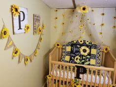 Adorable Sunflower Nursery Baby Stuff Baby Girl Crib