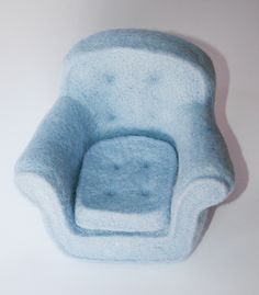 Needle felted chair by Laleebu, via Flickr