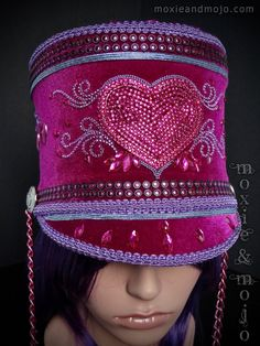 Hey, I found this really awesome Etsy listing at https://www.etsy.com/listing/496608500/marching-band-festival-hat-hearts-for