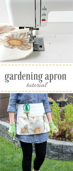 How to Sew a Gardening Apron - Step by Step Instructions - Satori Design for Living