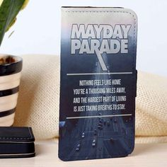 Mayday Parade Quotes | Rock Band | Music | custom wallet case for iphone 4/4s 5 5s 5c 6 6plus case and samsung galaxy s3 s4 s5 s6 case - RSBLVD