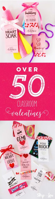 50 classroom valentines!