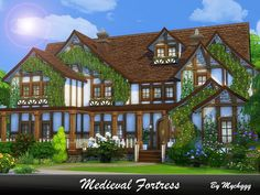 Medieval Fortress is a cozy family home in Tudor style built on 30x30 lot in Newcrest.  Found in TSR Category 'Sims 4 Residential Lots'