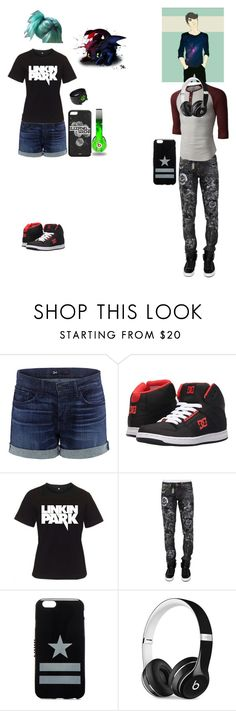 """""""AJ and her twin brother Billy"""" by ironkyle ❤ liked on Polyvore featuring 3x1, DC Shoes, Philipp Plein, LE3NO, Givenchy and Beats by Dr. Dre"""