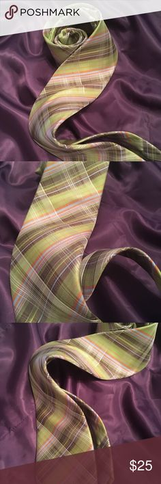 Kelly Plaid 100/% Imported Silk 12 Inch Pocket Square