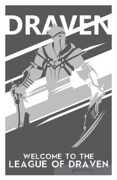 Draven: Liga de impresión leyendas por pharafax en Etsy