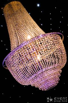 Crystal Chandelier (LE24) available to hire!  This large Crystal Chandelier would add more than a touch of class to any wedding, bling or glamorous themed event, adding light, sparkle and a sense of grandeur to any event!  Take a look at some more of our glamour themed props!