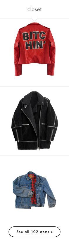 """""""closet"""" by gothcruise ❤ liked on Polyvore featuring outerwear, jackets, leather jackets, tops, 100 leather jacket, red leather jacket, red jacket, real leather jackets, coats and coats & jackets"""