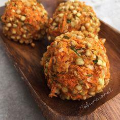 Almondega vegana de trigo sarraceno (ou arroz cateto)