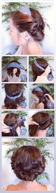 Coiffure avec foulard cheveux baba cool, se coiffer avec un foulard fashion femme façon hippie chic et bohémienne pas cher, bien fixer son foulard de fille.