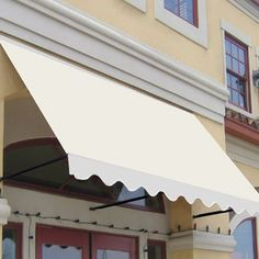 Santa Fe Window Door Awning With Twisted Rope Support Arms