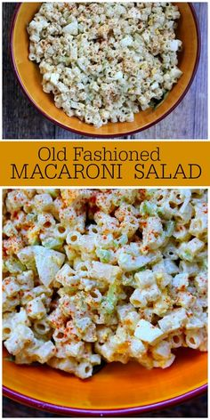 Everyone needs this Old Fashioned Macaroni Salad recipe on hand to make for barbecues and potlucks. This is a great classic macaroni salad recipe. Its the best via Classic Macaroni Salad, Best Macaroni Salad, Macaroni Salads, Classic Salad, Recipe For Macaroni Salad, Simple Macaroni Salad, Pasta Dishes, Food Dishes, Side Dishes