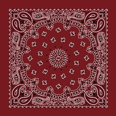 Are you looking for a plain bandana? This red paisley print bandana measures 22 x 22 inches. Made of cotton, these bandanas are extremely durable and machine washable. These classic bandanas literally have hundreds of uses! Proudly Made in the USA. Bandana Head Wraps, Bandana Scarf, Red Bandana, Bandana Print, Paisley Design, Paisley Pattern, Paisley Print, Red Design, Cowboy Bandana