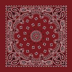 western bandanas wholesale | Burgundy Western Paisley Bandanas - Dozen Packed 22x22 : Bandanas : By ...