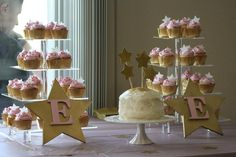 Twinkle twinkle little star pink and gold first birthday