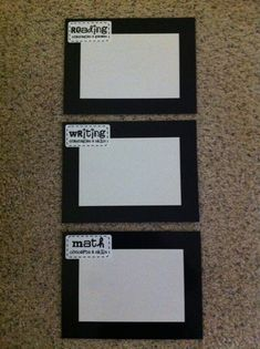 objectives on dollar store  magnetic whiteboards