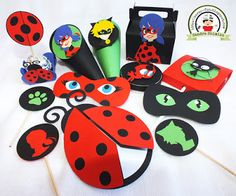 Scrap-festa Miraculous: Tales of Ladybug and Cat Noir Girls Birthday Party Themes, Cat Birthday, Birthday Party Decorations, Ladybug Cakes, Meraculous Ladybug, Ladybugs, Cumpleaños Lady Bug, Miraculous Ladybug Party, Cute Halloween