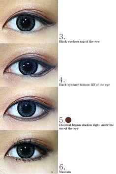 Neurotic Painter: Korean Eye Makeup Looks - How to