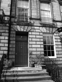 Robert Louis Stevenson lived at 17 Heriot Row in Edinburgh as a young boy, and his home is now an event center and bed and breakfast. Robert Louis Stevenson, Most Beautiful Cities, Historical Romance, Bed And Breakfast, Lodges, Edinburgh, Tours, Authors, Writers
