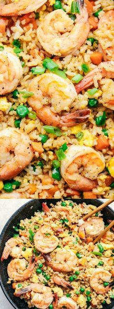 This Better Than Takeout Shrimp Fried Rice from The Recipe Critic is better than any restaurant. It's made with fresh shrimp, vegetables, egg, rice, and topped with green onions!