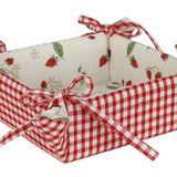 Panier corbeille vichy fraises Clayre & Eef