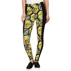 Crooks & Castles Knit Leggings - Hood Pope ($20) ❤ liked on Polyvore featuring pants, leggings, yellow, yellow leggings, white cotton pants, stretch pants, white pants and legging pants