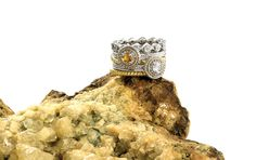 Stackable Expressions Citrine Ring Stack