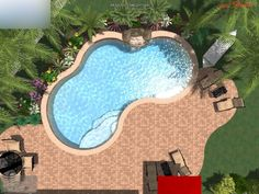 Cool ideas for kidney shaped pools (31)