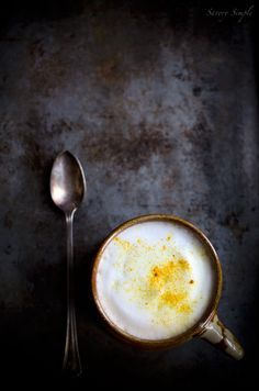 Turmeric Chai Latte - a spicy, warming espresso drink for chilly days and nights....