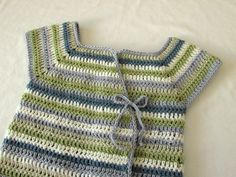 VERY EASY crochet circle neck baby dress tutorial - YouTube