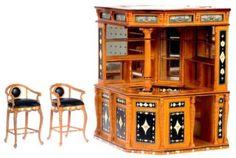 Dollhouse Miniature Bespaq Olde English Pub Bar - Kims Dollhouse Miniatures