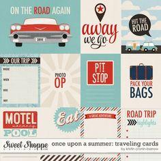 Travel themed journaling/filler cards