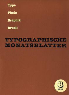 TM Typographische Monatsblätter, issue 8, 1936